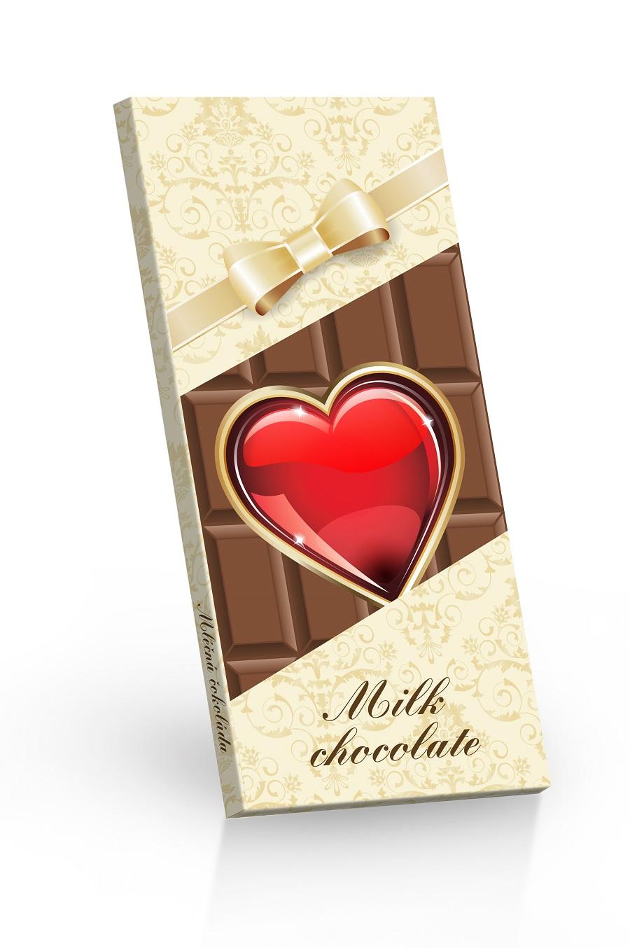 Čokoláda mléčná - Srdíčko 100g