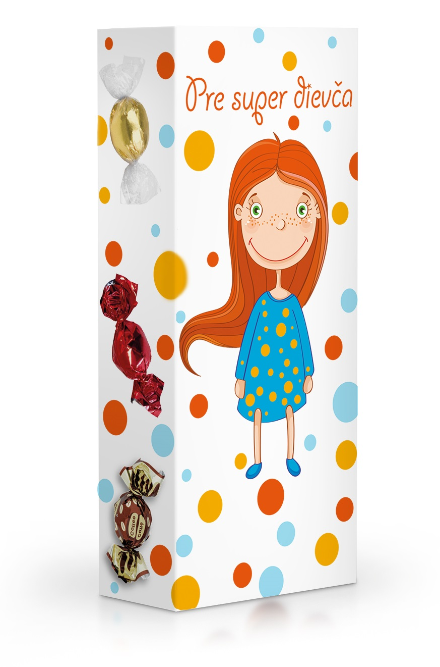 Čokoládové plněné pralinky - Pre super dievča 84 g SLOVENSKY