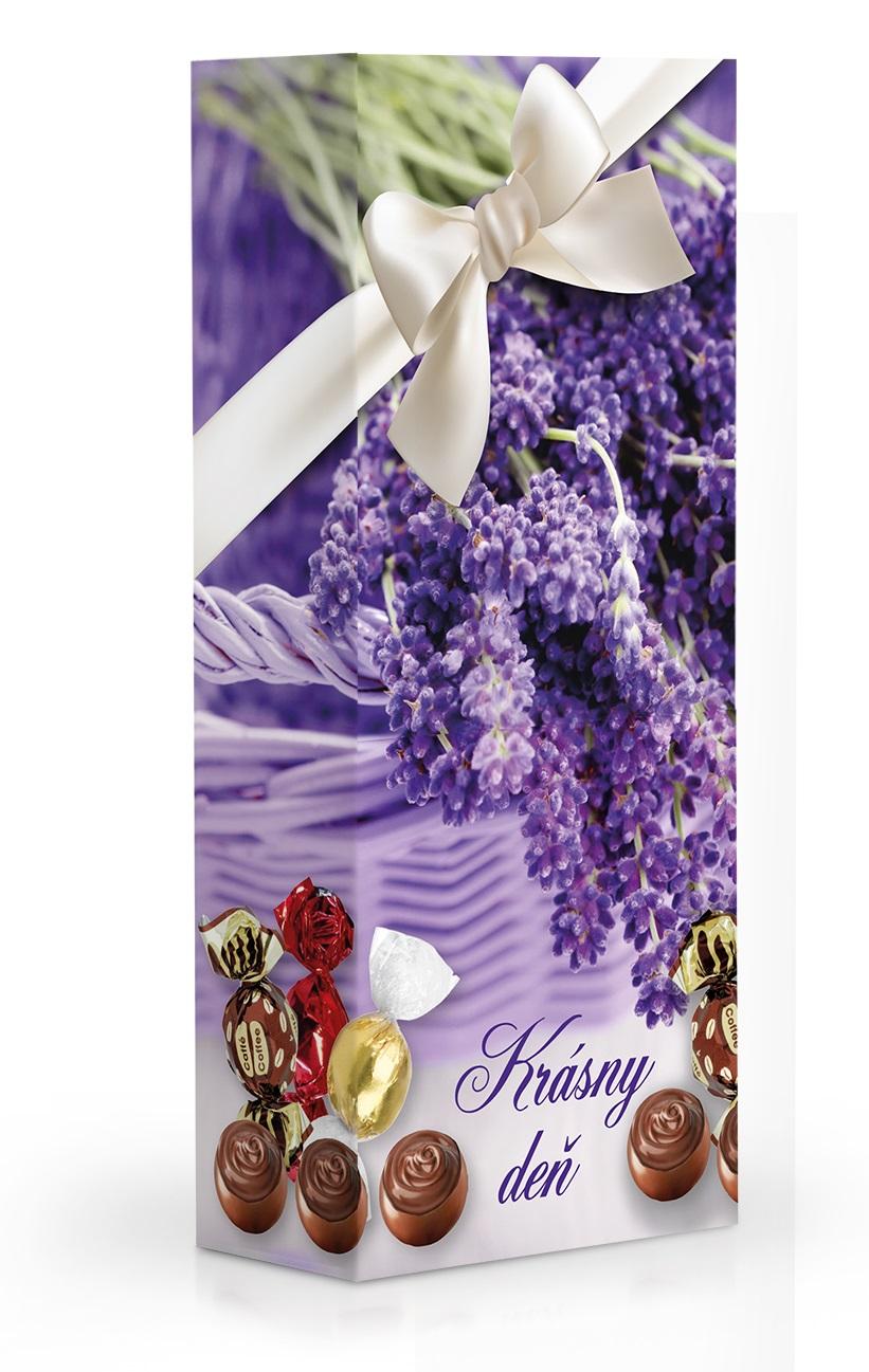 Čokoládové plněné pralinky - LEVANDULE KRÁSNY DEŇ 84 g SLOVENSKY