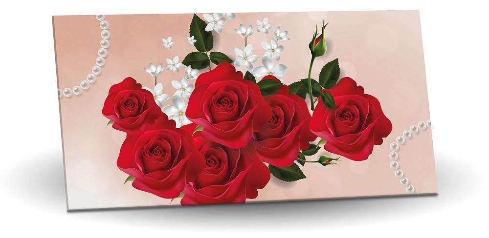 Hořká čokoláda 60% 175g - Červené růže