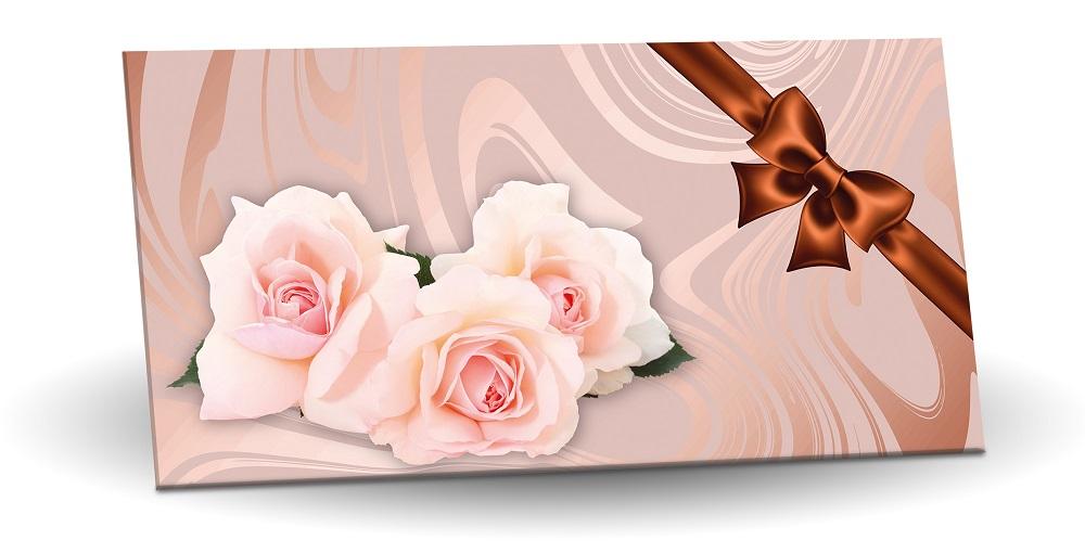 Mléčná čokoláda s mandlemi a malinami 175g - Růže (Bronzová mašle)