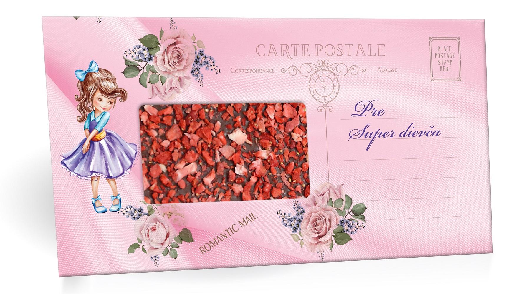 Pre super dievča - Mliečná čokoláda s posypom jahoda 91,5g SLOVENSKY