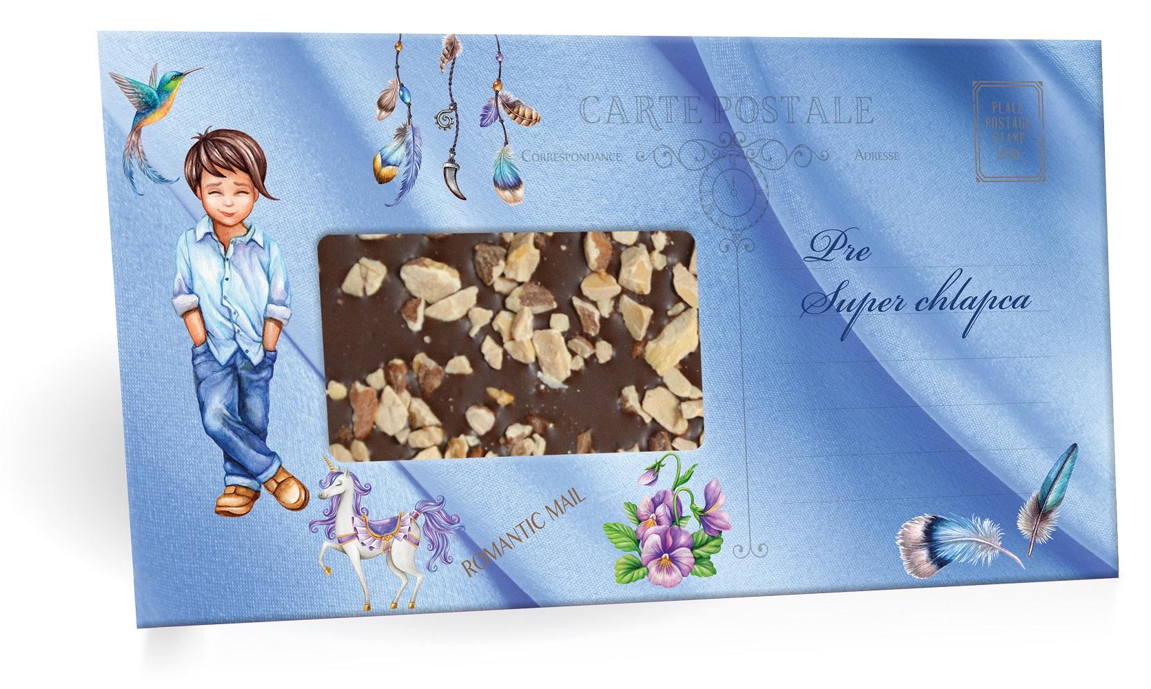 Pre super chlapca - Mliečná čokoláda s posypom mandle 96g SLOVENSKY