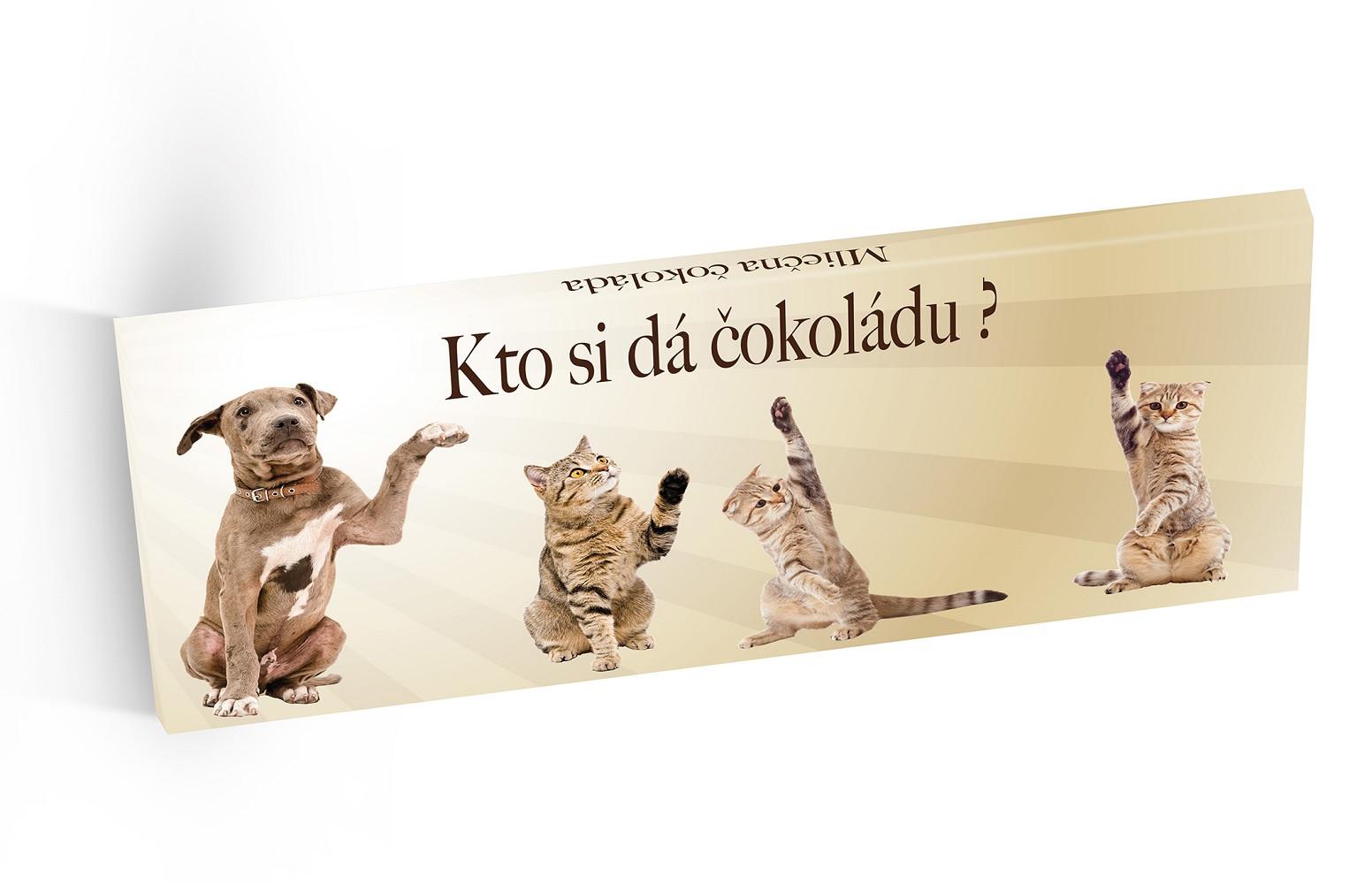 Kto si dá čokoládu - mléčná čokoláda 100g - SLOVENSKY