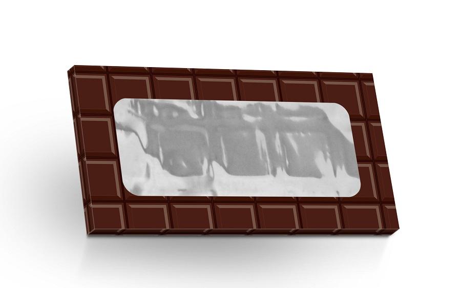 Mléčná čokoláda 50g -Motiv čokoláda (výřez obdélník)