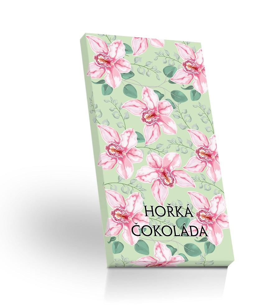 Hořká čokoláda 60% 50g -Zelená orchidej