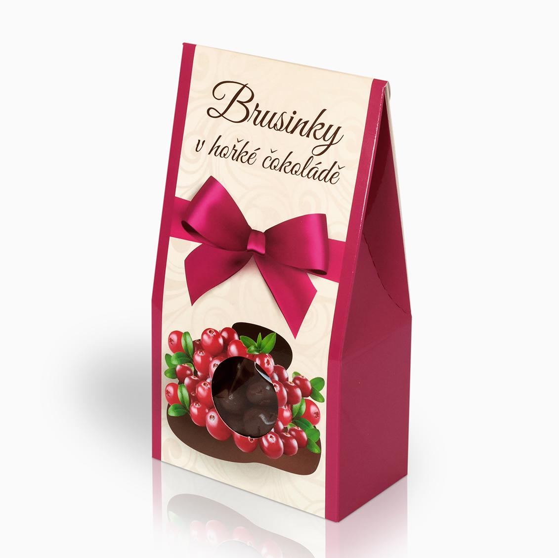 Brusinky v hořké čokoládě 150g (stříška)