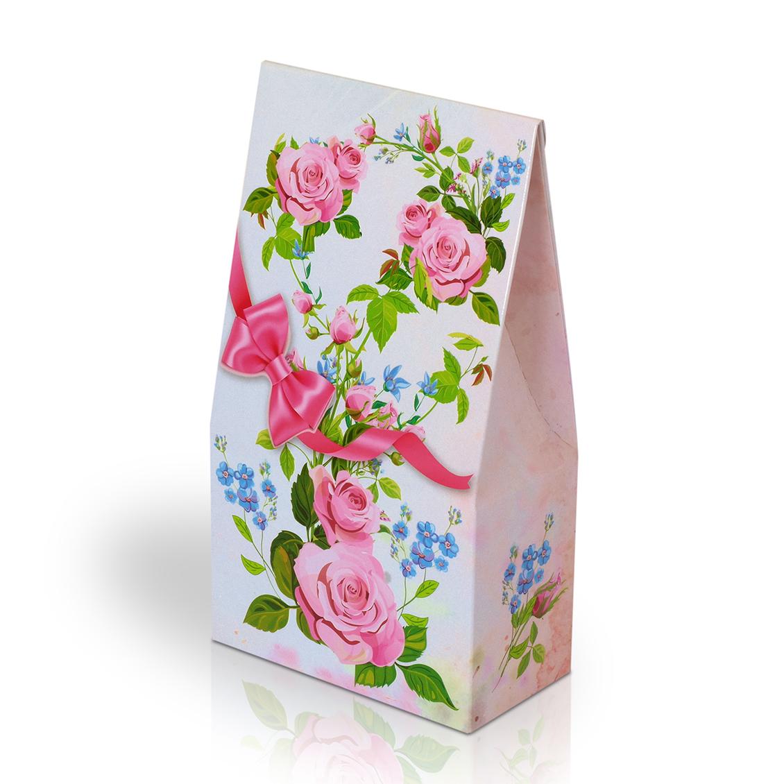 Italské pralinky - Květy s růžovou mašlí 100g (stříška)