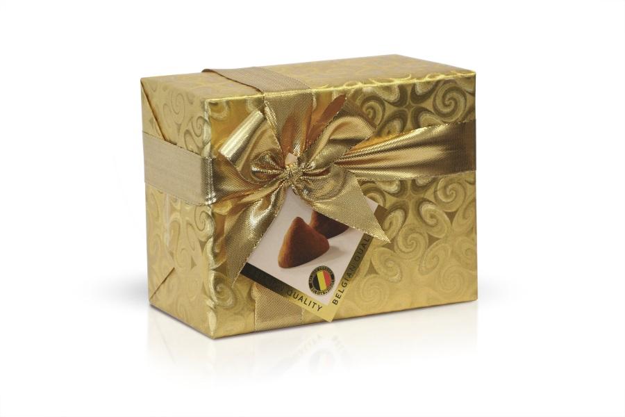Belgické kakaové lanýže  ve zlatém papíru 200g
