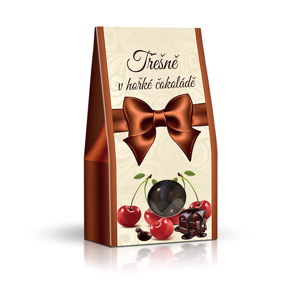 Třešně v hořké čokoládě 150g (stříška)