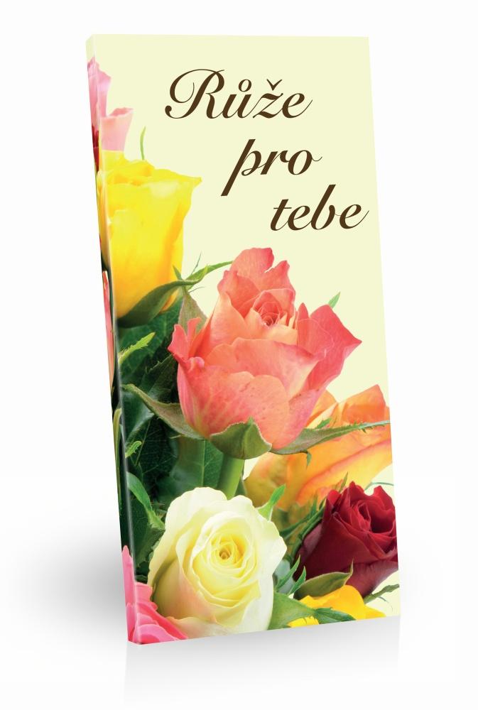 Čokoláda mléčná - Růže pro tebe 100g